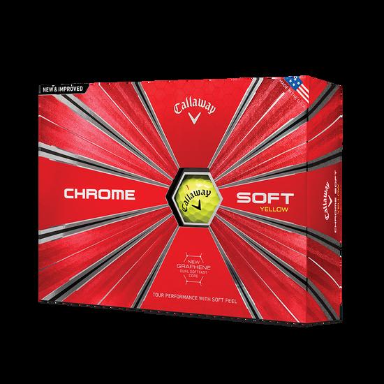 La nouvelle balle de golf Chrome Soft Jaune - Personnalisées