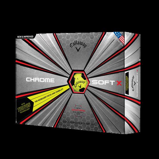 La nouvelle balle de golf Chrome Soft X Truvis Jaune