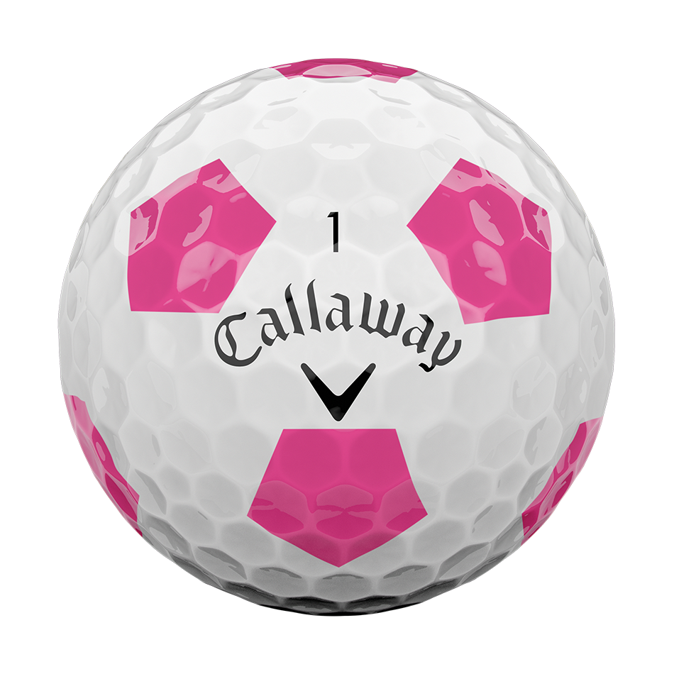 La nouvelle balle de golf Chrome Soft Truvis rose - View 3