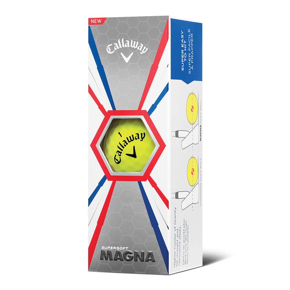 Callaway Supersoft Magna Yellow Golf Balls - Personnalisées - View 2