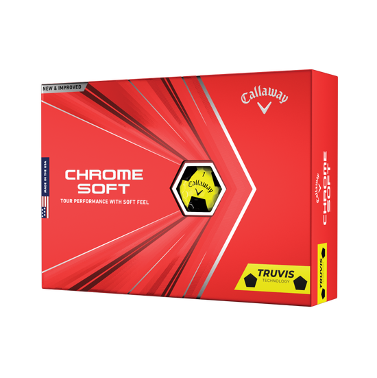 Balles de golf Chrome Soft Yellow Truvis 2020