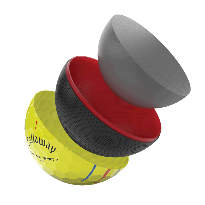 Einführung des Chrome Soft X LS TT Yellow Golfballs illustration