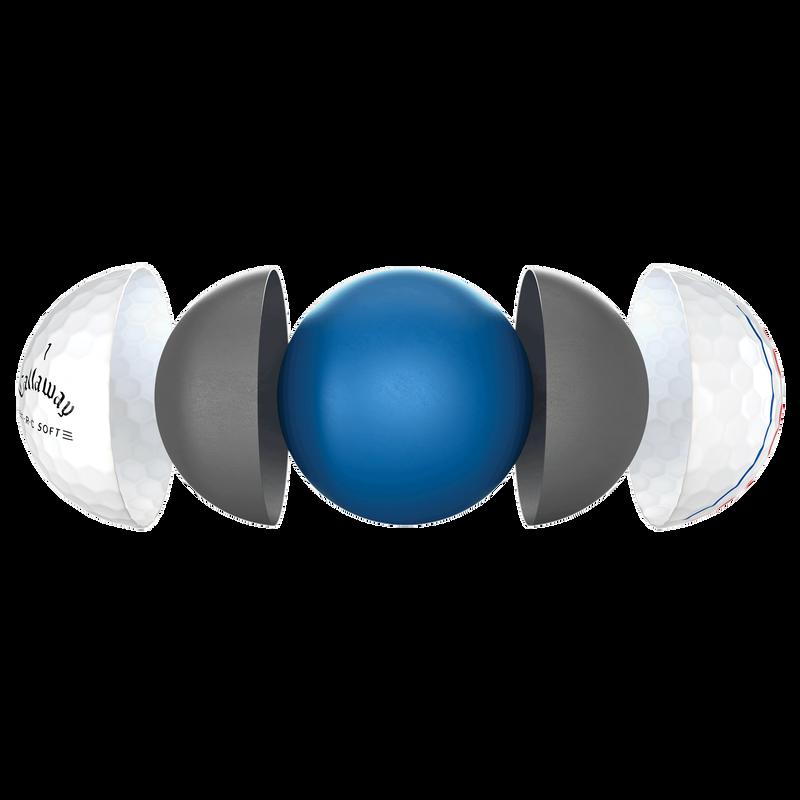 E•R•C Soft golf ball technology breakout image