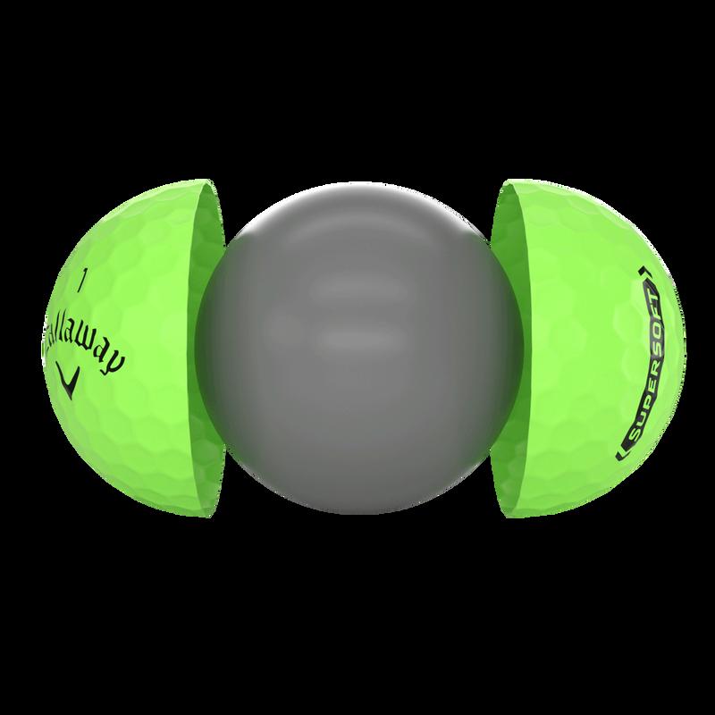 Introducing Callaway Supersoft Matte Green Golf Balls illustration