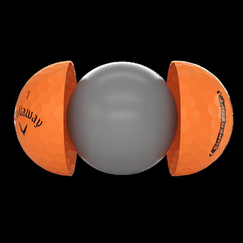 Introducing Callaway Supersoft Matte Orange Golf Balls illustration