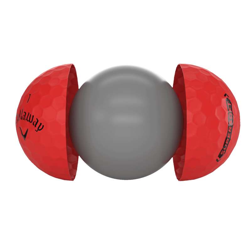 Introducing Callaway Supersoft Matte Red Golf Balls illustration