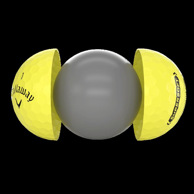 Introducing Callaway Supersoft Yellow Golf Balls illustration
