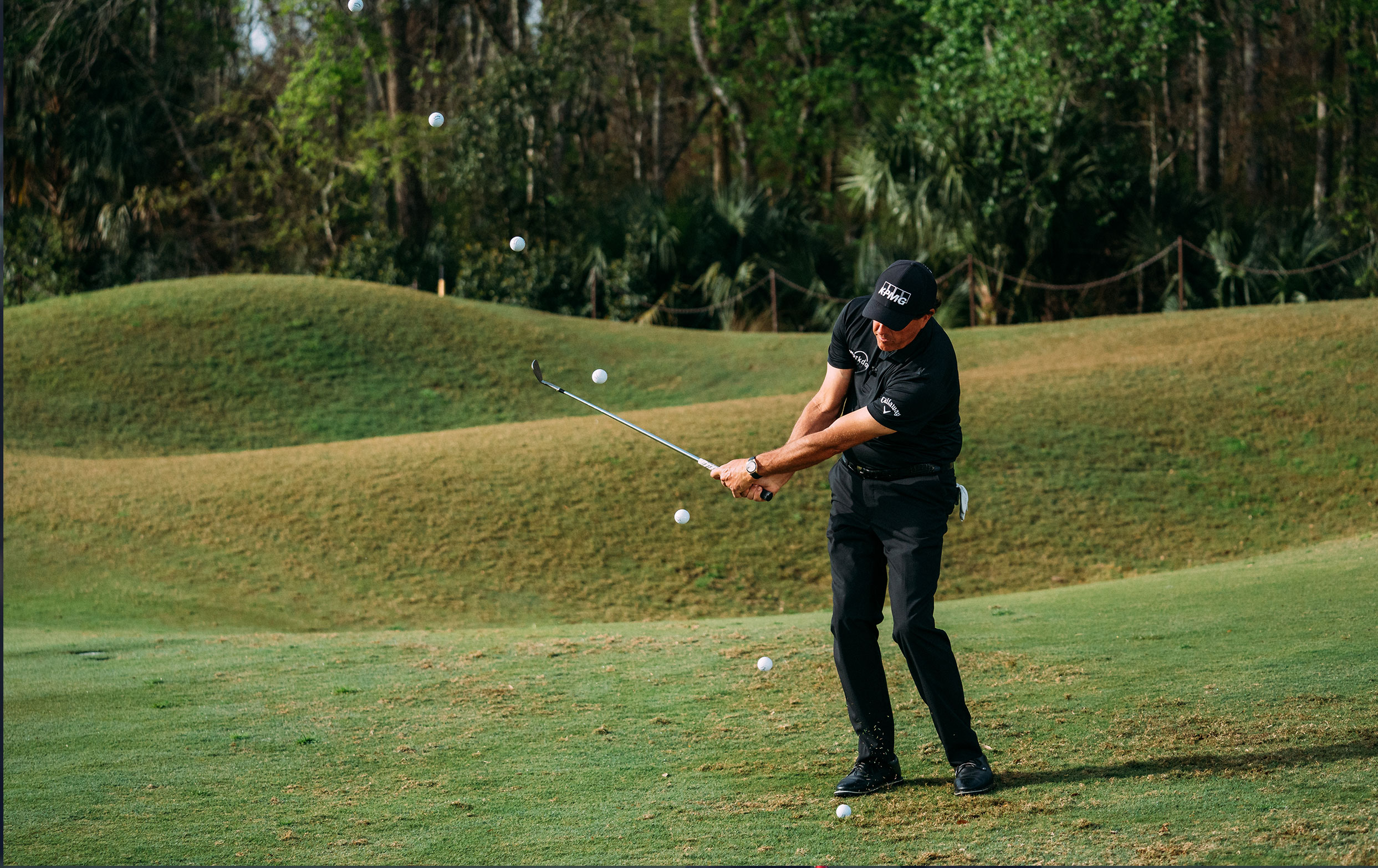Phil Mickelson Playing Golf