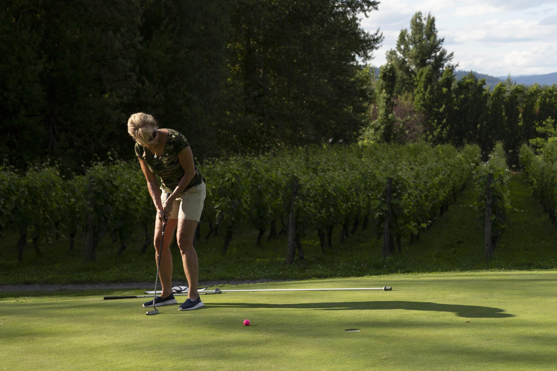 Golf course third hole