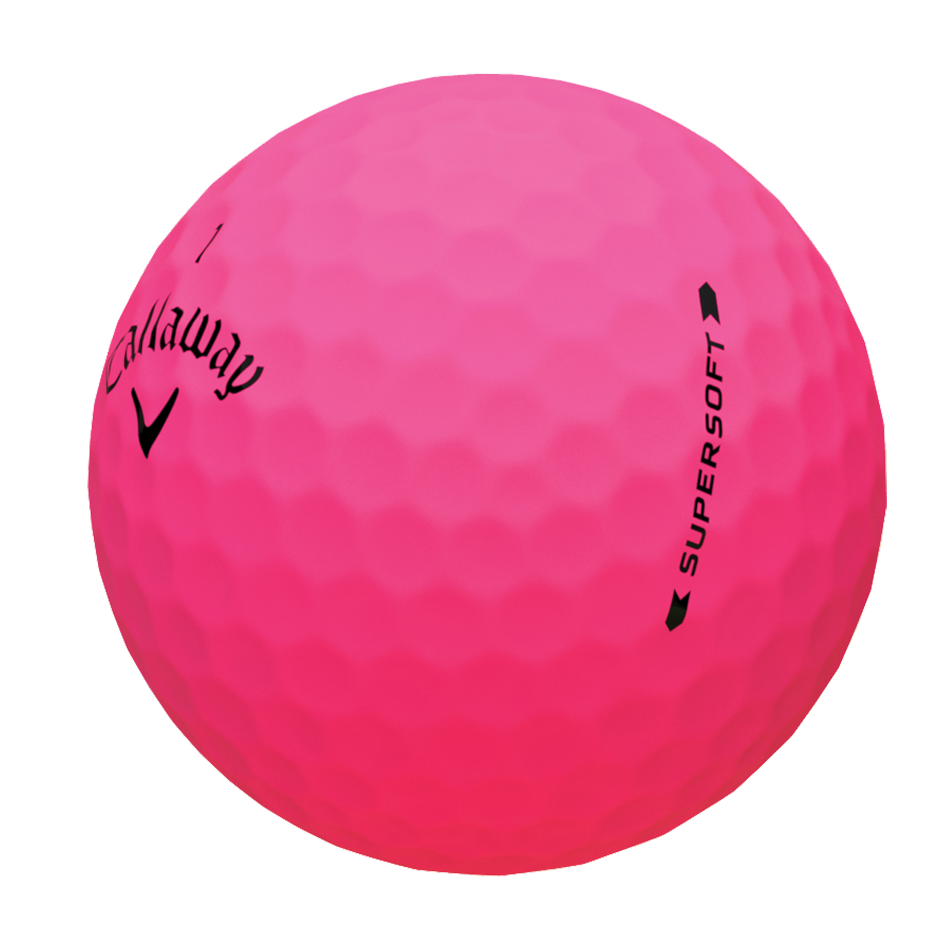 Introducing Supersoft Matte Pink Golf Balls illustration