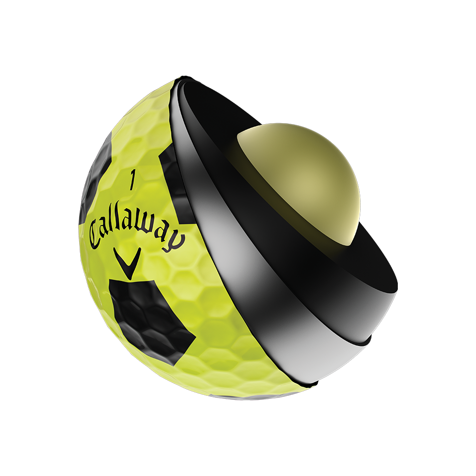 Introducing Chrome Soft X Truvis Yellow Golf Balls illustration