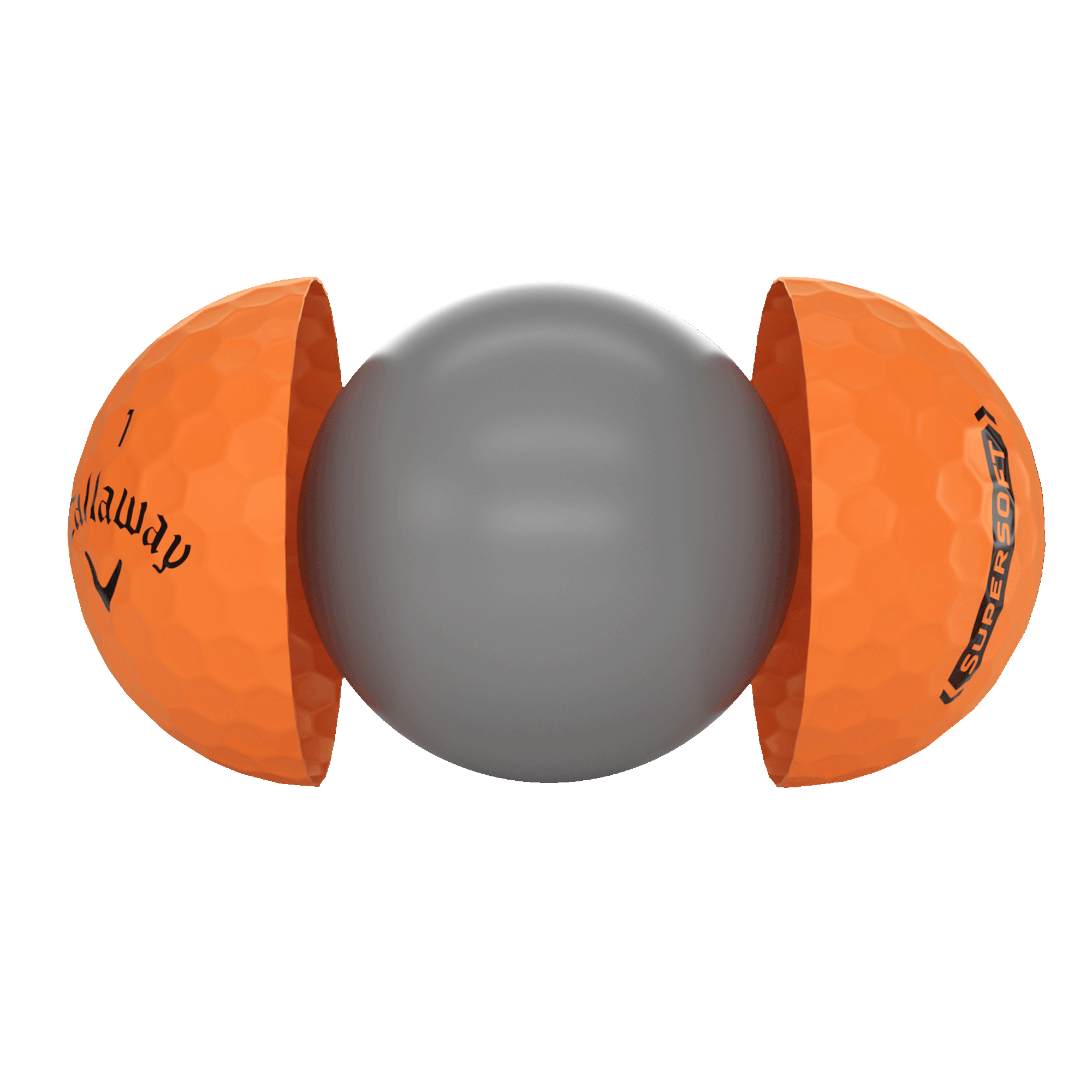 Introducing Callaway Supersoft Matte Orange Golf Balls illustration