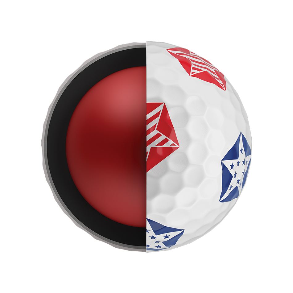 Introducing Chrome Soft Truvis Stars and Stripes Golf Balls illustration