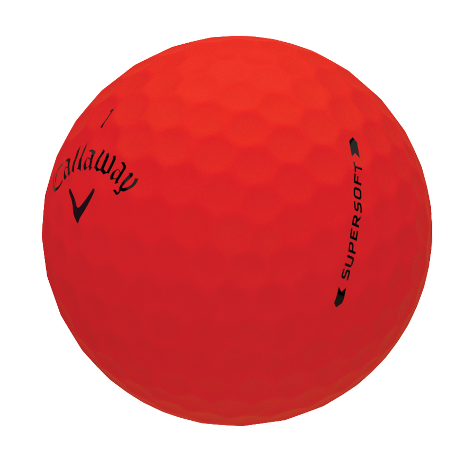 Introducing Supersoft Matte Red Golf Balls illustration