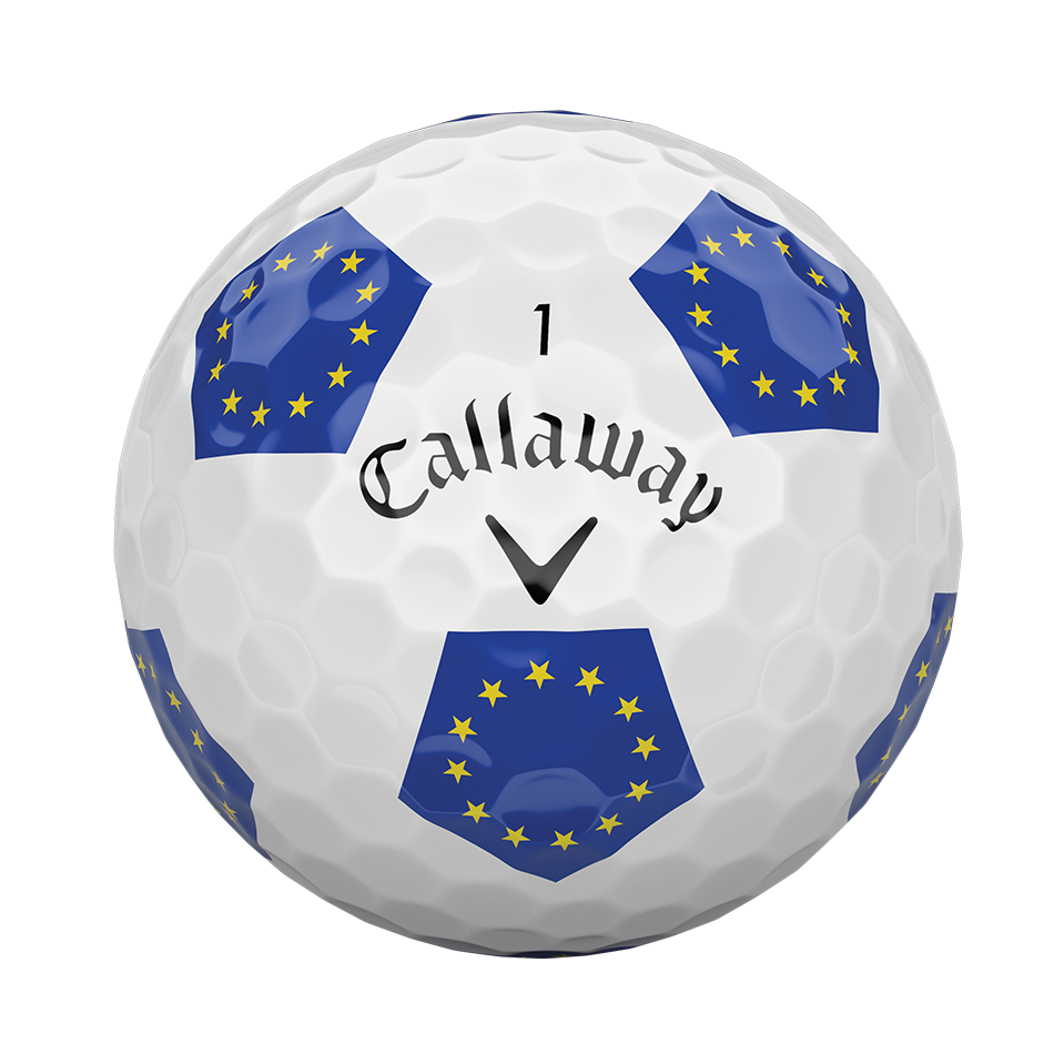 Introducing Chrome Soft European Truvis Golf Balls illustration