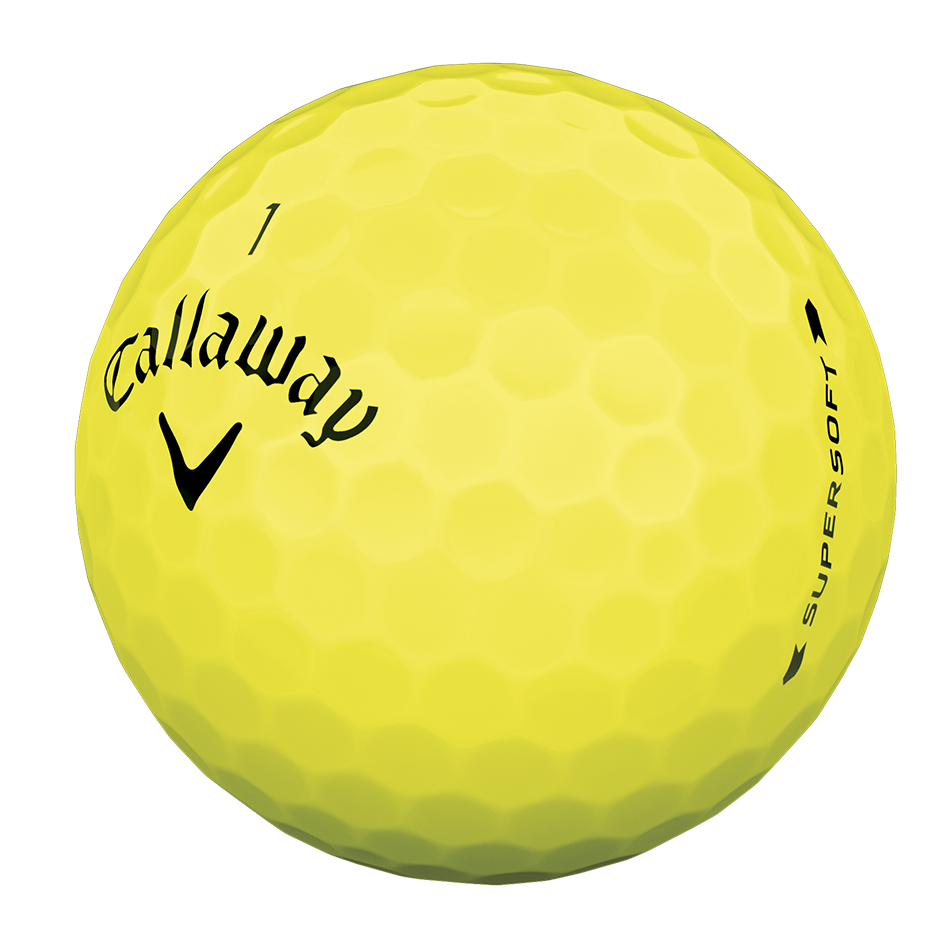 Introducing Supersoft Yellow Golf Ball illustration